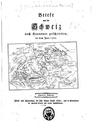 Johann Gerhard Reinhard Andreae - The book Briefe aus der Schweiz nach Hannover geschrieben