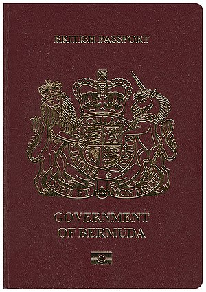 British passport (Bermuda) - The front cover of a Bermudian passport.