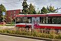Brno, Makovského náměstí, trolejbus s reklamou ČSSD do krajských voleb 2020 (17.38.54).jpg
