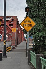 File:Broadway Bridge Portland - drawbridge sign at NE end.jpg