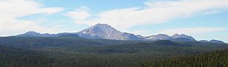 Lassen Volcanic National Park - Image: Brokeoff Mountain Lassen Volcanic
