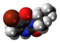 Bromacil molecule spacefill.png