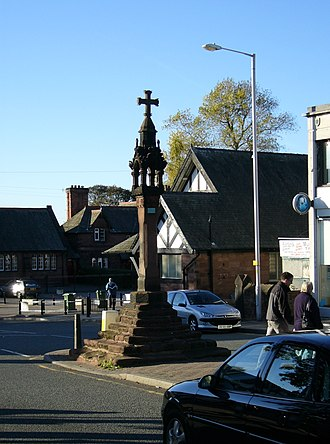 Bromborough - Image: Bromboroughcross 1