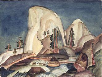 Marguerite Zorach - Half Dome, Yosemite, CA, 1920,watercolor over graphite