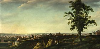 History of Baltimore - View of Baltimore from Chapel Hill, by Francis Guy, 1802-03 (Brooklyn Museum)