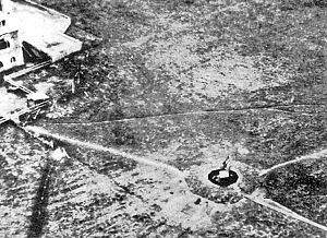 Aerial view of radar site