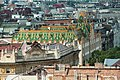 Budapest, view from the St. Stephen's Basilica to the Postal Savings Bank.jpg