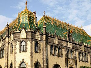 Zsolnay - Roof of Museum of Applied Arts (Budapest)