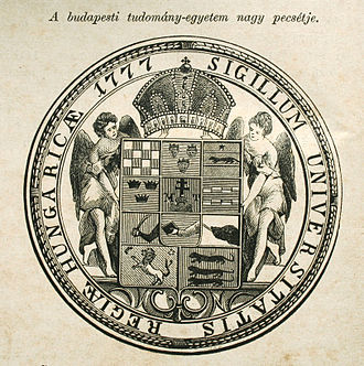 Eötvös Loránd University - Seal of the University from 1880