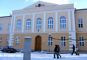 Catholic higher education - Main building of the Catholic University in Ružomberok, Slovakia