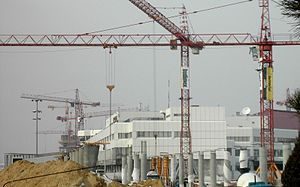 Warsaw Chopin Airport - Ongoing construction of Terminal 2 at Warsaw Chopin in 2005.