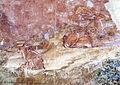 Buffalmacco, trionfo della morte, eremiti 04 animali.JPG