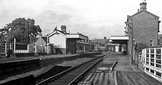 Builth Road railway station - High level station in 1967