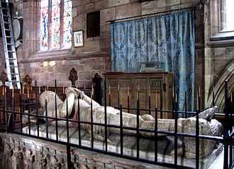 Hugh Calveley - Effigy of Sir Hugh Calveley (d.1394), St Boniface's Church, Bunbury, Cheshire