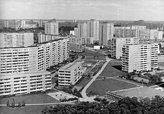 Plattenbau - Berlin-Marzahn, the largest East German Neubaugebiet (1987)