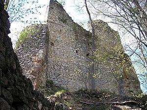 Kaltenburg Castle - Inner face of the southwest wall