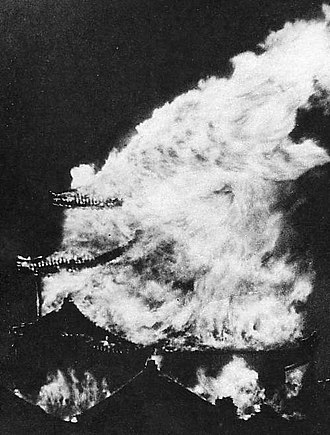 Bombing of Nagoya in World War II - Nagoya castle main tower, May 14.