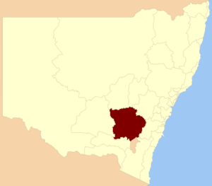 Electoral district of Burrinjuck - Location in New South Wales