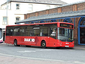Diamond Bus - MCV Evolution bodied MAN 14.240 in Red Diamond livery in June 2011