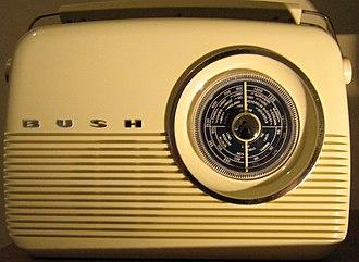 Bush (brand) - Bush Radio reproduction of 1959 TR82 transistor portable. A design icon of the early transistor radios