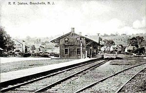 Sussex Railroad - Branchville Station, circa 1917