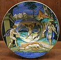 C.sf., urbino, francesco xanto avelli, coppa con euridice, aristeo e orfeo, 1531 circa.JPG