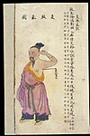 C19 Chinese MS moxibustion point chart; Underarm odour point Wellcome L0039513.jpg