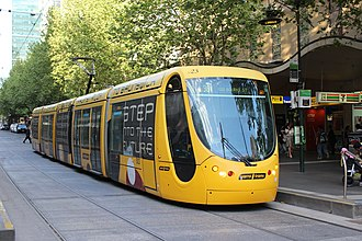 Cross-city route - Melbourne tram route 96 is a cross-city route connecting two very different suburbs, East Brunswick and St Kilda.