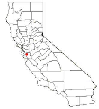 Alviso, San Jose - Image: CA Map doton San Jose