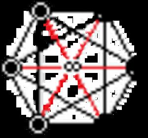 Order-4 hexagonal tiling honeycomb - Image: C Del K6 636 11