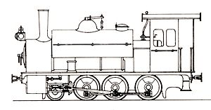 CGR 2-6-0ST 1900 - Drawing of PEHB engine O