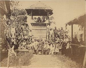 Abdullah Muhammad Shah II of Perak - Sultan Abdullah at Batak Rabit on Perak river, June 1874.