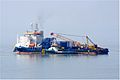 "Cable Layer ""Stemat Spirit"" with Tug ""Coastal Vanguard"" in attendance - Morecambe Bay - Northwest England - 6 May 2013.jpg"