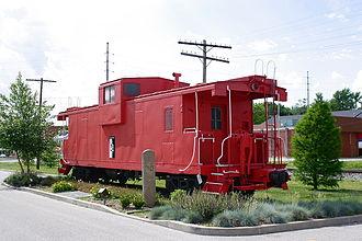O'Fallon, Illinois - Image: Caboose