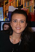 Camilla Läckberg at a book signing in Assen, N...