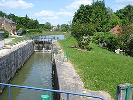 Lock on the Canal des Ardennes