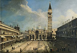 Canaletto - The Piazza San Marco in Venice - Google Art Project