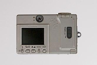 Canon Digital IXUS - Image: Canon ixus back