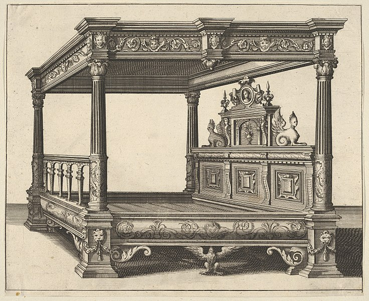 File:Canopy Bed from 'Verscheyden Schrynwerck (...)' -'Plusieurs Menuiseries (...)'- MET DP830820.jpg