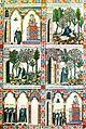 Cantigas de Santa María, Rei Afonso X. S. XIII. Página miniada que ilustra la Cantiga CIII en el códice escurialense.jpg