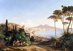 Carl Götzloff - View of Naples (1837)