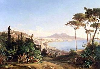 Carl Götzloff - View of Naples (1837)