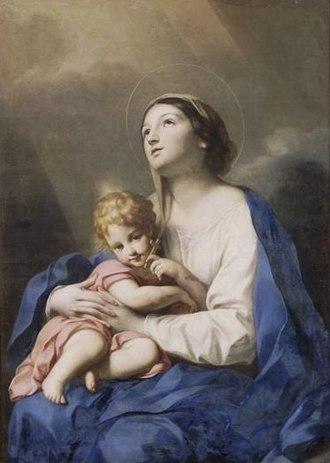 Carlo Cignani - Image: Carlo Cignani Virgen con niño Musee Condé