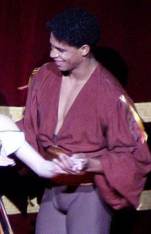 Carlos Acosta - Acosta after dancing Tzigane, Royal Opera House, March 2008