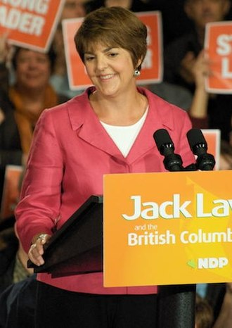 British Columbia general election, 2005 - Image: Carole James in 2008