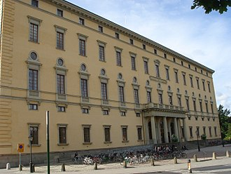 Uppsala University - The Carolina Rediviva, the main building of the university library, designed by Carl Fredrik Sundvall and completed in 1841.