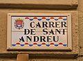 Carrer de sant Andreu d'Alacant, placa.JPG