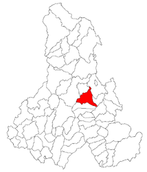 Location in Harghita County