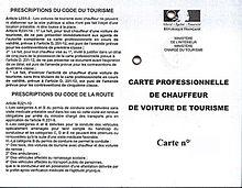 demande de carte vtc 93 Voiture de transport avec chauffeur — Wikipédia