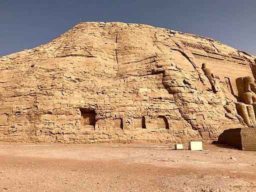 Carved Stone Cliffs, The Great Temple of Ramses II, Abu Simbel, AG, EGY (48017150428)